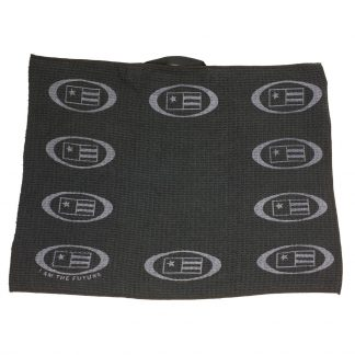USKG Microfiber Golf Towel, Black