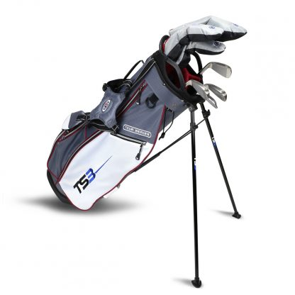 TS3-60  7 Club Set, Combo Shafts, Grey/White/Maroon Bag